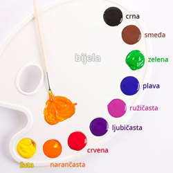 Croatian vocabulary: Colours