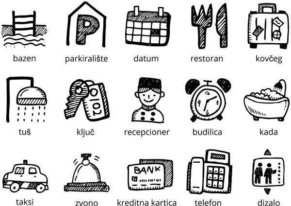 Hotel vocabulary in Croatian